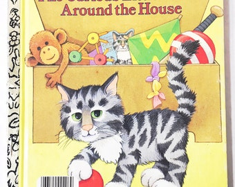The Curious Little Kitten Around the House.  My Little Golden Book Number 206-57.   Little Golden Book. LGB.  1986.