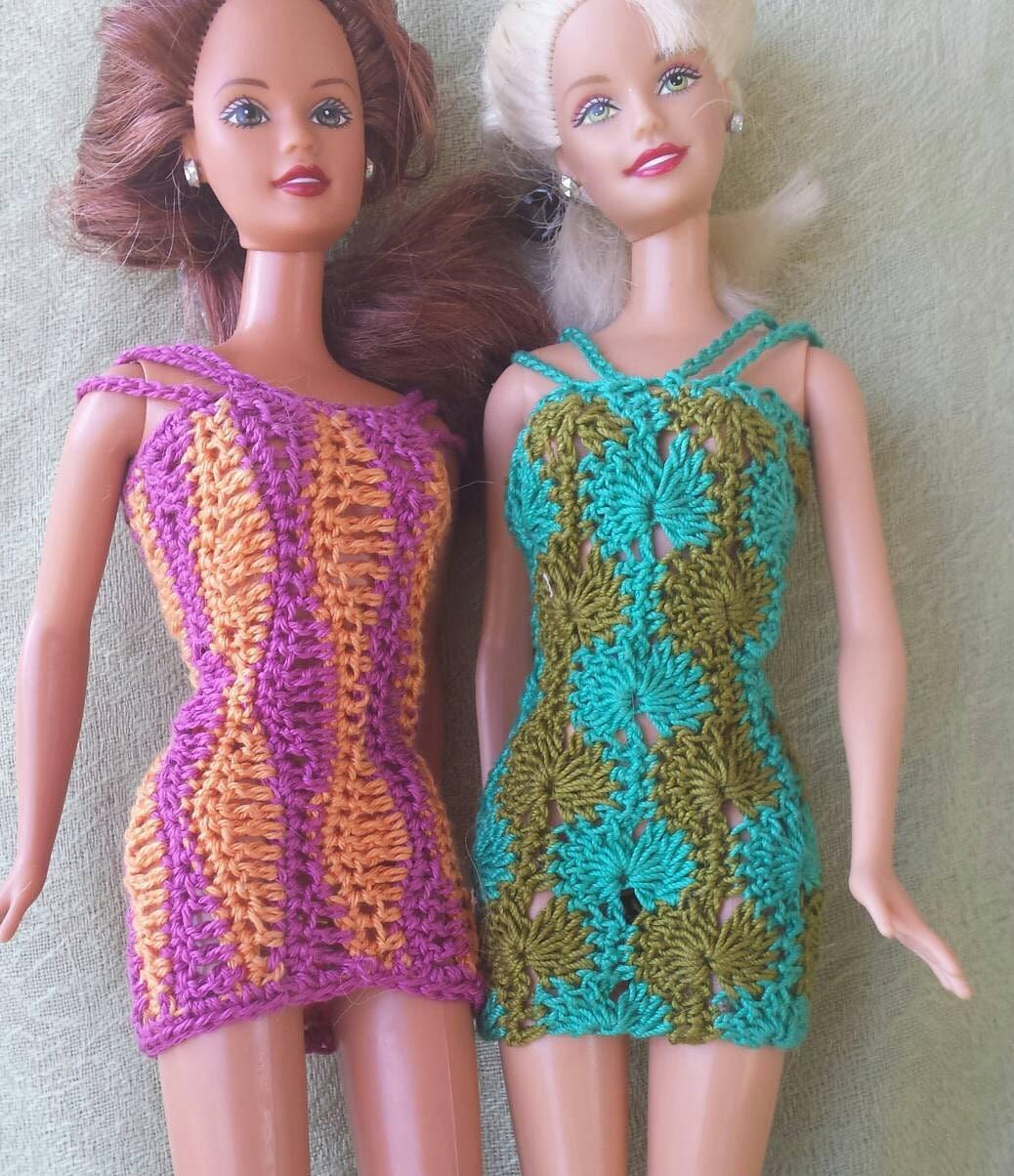 Barbie doll crochet pattern retro modern strappy sundresses from ...