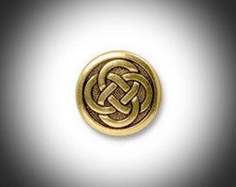 Gold Love knot Lapel Pin, Mens Tie Tack Celtic Jewelry Irish Jewelry Groomsmen Gift Unisex Bridal Jammf Celtic Jewelry