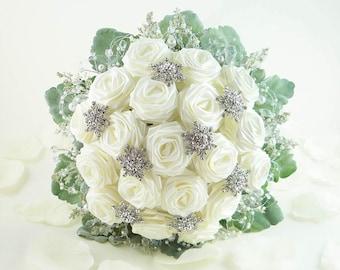 Ice Crystal, Wedding Bouquet, Bridal Bouquet, Winter Wonderland Wedding, Origami Wedding Bouquet, Winter Crystal Bouquet