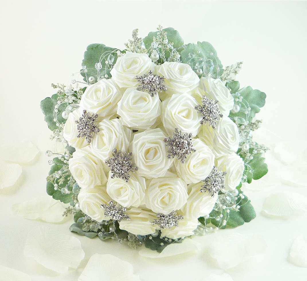 Winter Wedding Flower Bouquets: Ice Crystal Wedding Bouquet Bridal Bouquet Winter