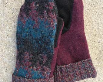 Wool Blend Mittens (XL)