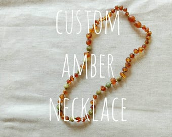 custom  amber necklace | get an indvidual amber (teething) necklace