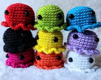 Crochet Amigurumi Doll - Squible, Squid, Jellyfish, Icecream