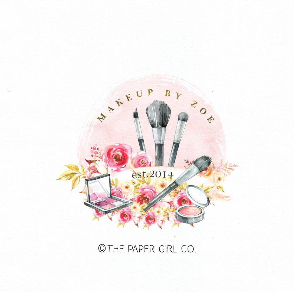 Make up artist logo beauty logo premade logo cosmetics logo for Made design