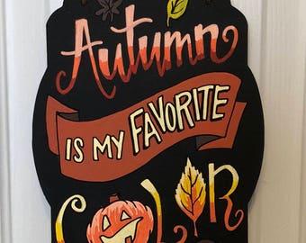 Autumn hand lettered Chalkboard Art