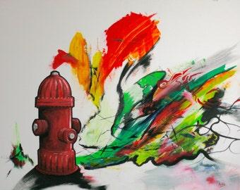Fire Hydrant print