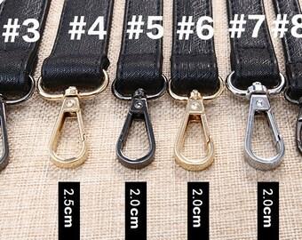 1Pc black bag Adjustable straps leather Shoulder  Purse handle Strap gunmetal Gold Silvery Buckle Lobster Clasp 78-140cm / 30.7-55inch