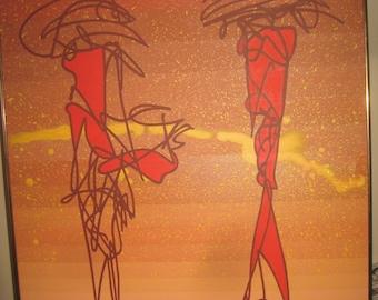 "Original Dale Gabriel  Gabe Art artwork  ""Frick & Frack"" [6607o]"