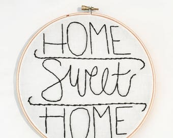 "8"" Home Sweet Home Hoop Art Wall Hanging"