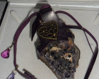 Welsh Witch Crystal Healing Hanging Amethyst Druze