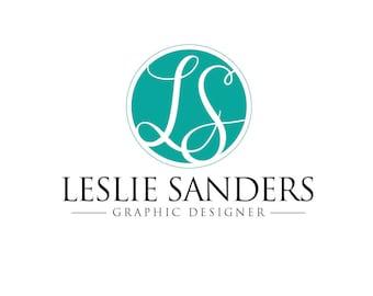 Premade Business Logo - LESLIE SANDERS - Monogram - Professional Logo
