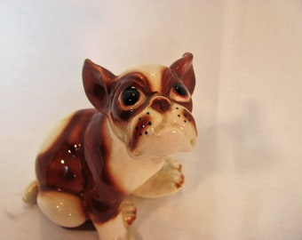 Boston Terrier Figurine-Made in Japan-années 1950