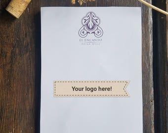 Your Logo Here, Personalized Notepad, Personalized Stationery, Business Logo, Logo Memo Notepad, Business Stationery, Custom Logo, RD03