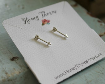 Delicate Arrow Earrings | Dainty Arrow Jewelry