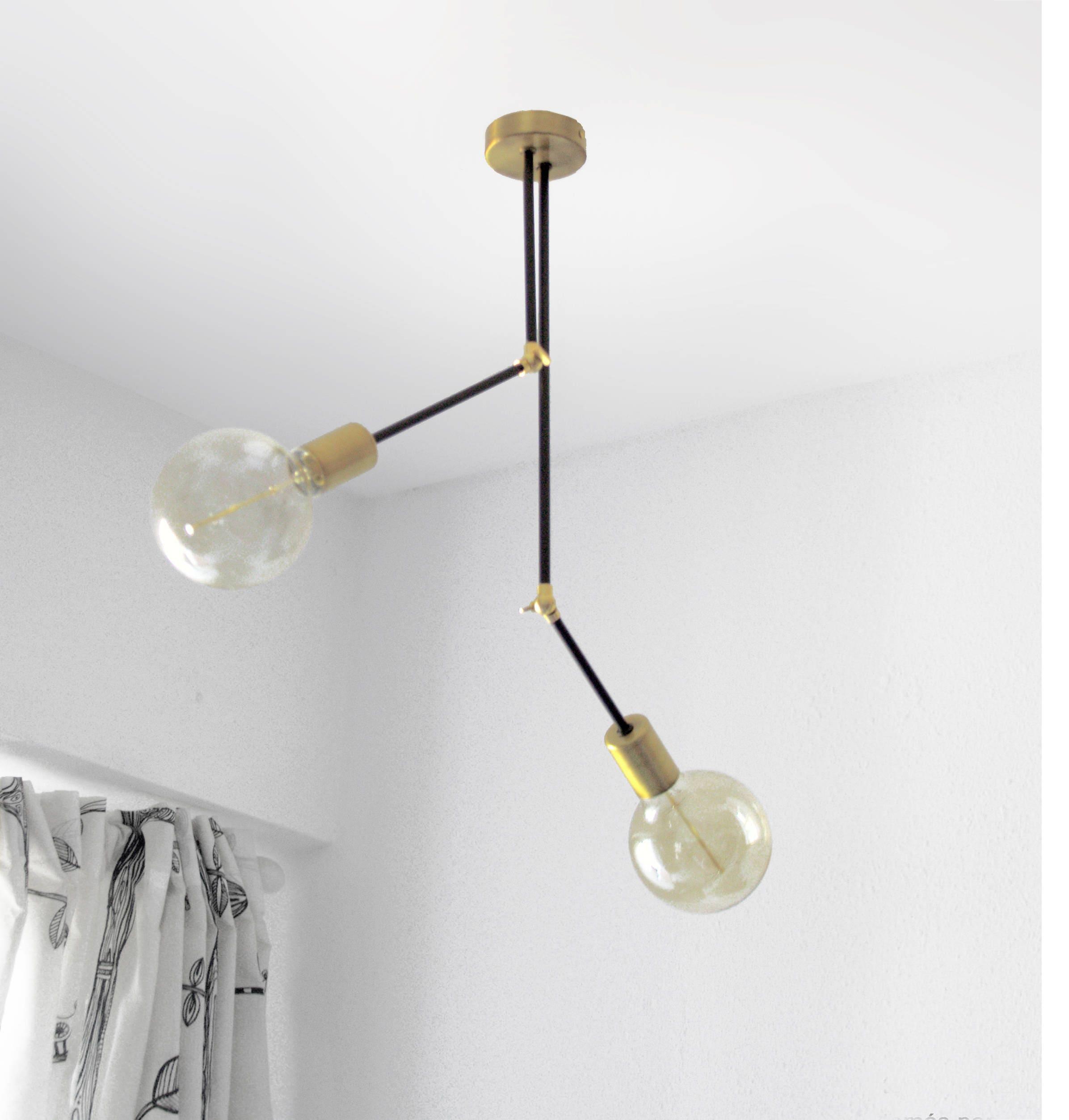 Articulated ceiling light 2 arm semi flush mount light zoom arubaitofo Gallery