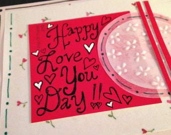 """Valentine's Day Card  - Love Card - """"Happy Love You Day!!"""" (c) 2018 -  by HMHB"""