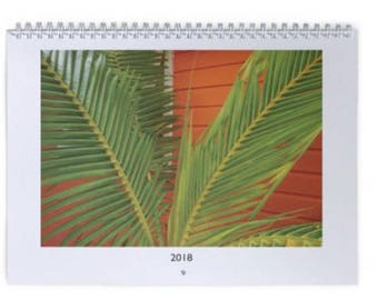 12 month Island Beach Wall Calendar-starting with the next month