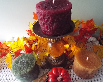 """PILLAR CANDLES - Gorgeous Grubby 3x4"""" Pillars - Your Choice of Color & Scent - Makes a Perfect Gift or Table Decoration"""