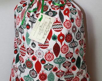 Cloth Gift Bags Fabric Gift Bags Large Vintage Christmas Ornaments Reusable Eco Friendly Drawstring Gift Sacks