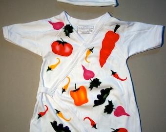 Vegetable Baby Kimono