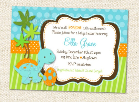 Dinosaur Baby Shower   DIY Printable Personalized Birthday Party Package  Party Pack