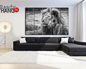 Lovely Lions, Lion Art Decor, Lion Wall Art, Lioness, Lion Home Decor,