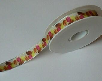 Ribbon macaroons background n ° 1 in 15 mm