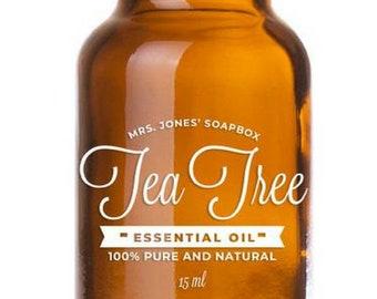 100% Pure & Natural Tea Tree Essential Oil