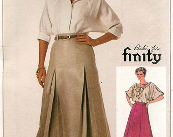 Simplicity 7268 Vintage 1980s Finity gored skirts uncut sewing pattern