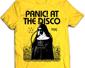 Panic At The Disco Pray For The Wicked Tour 2018 Yellow Shirt