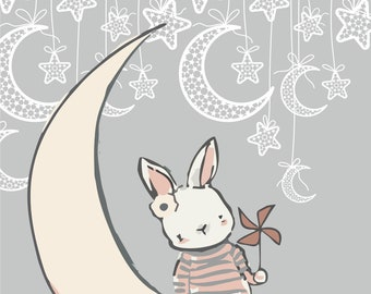 Set of 3 Bunny Love Poster