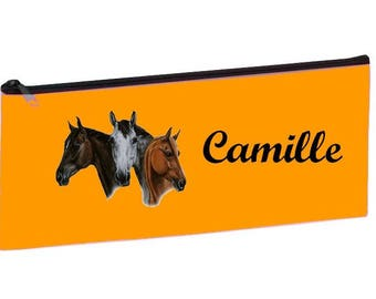 Orange horse personalized with name package
