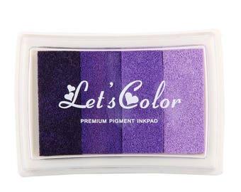 purple violet ink gradient scrapbooking