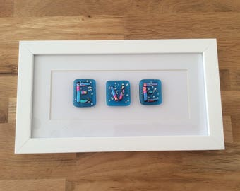 Eve, personalised gift, christening gift, personalised fused glass