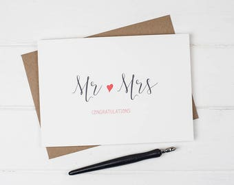 Wedding congratulations card, Wedding card, Wedding congratulations, Mr and Mrs card, Mr and Mr card, Mrs and Mrs card, New married couple