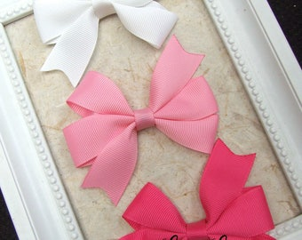 Classic Pinwheel Hair Bows, Hair Clips For Baby, BEST SELLER, pink white Hair Bow Clips, Toddler Girl, Girl Hair Clips, Teen Hair Clips