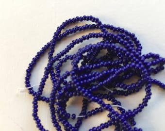 Embroidery Beads for Tambour Embroidery, 13/0 charlotte bead, Blue, Lesage, Lunéville Embroidery, Tambour Hook, Tambour Embroidery