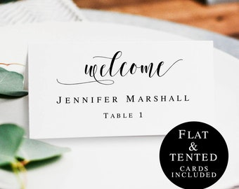 Boho name cards template Printable wedding place cards Table name cards wedding Place cards instant download Seating cards rustic #vm31
