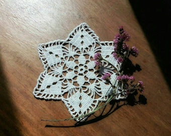 Crochet pattern. Crochet doily. Shabby chic. Table decoration.