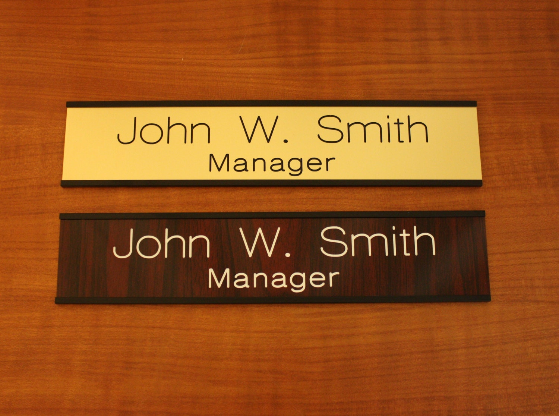 🔎zoom & CUSTOM ENGAVED 2 X 8 Door Wall Name Plate With