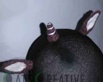 Mini Unicorn Headband - Purple, Deep red and White