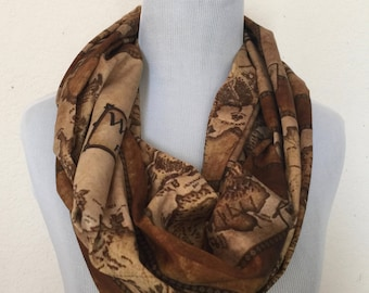 Westeros Map, Game of Thrones  Circle Scarf, infinity scarf EXTRA LONG