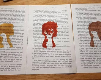 Harry Potter Book Page Art Watercolour