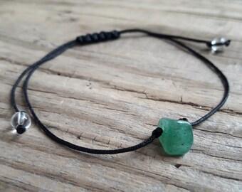 Green jade stone bead bracelet jade crystal healing health good luck good karma protection bracelet minimalist bracelet with green stone