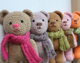 Crochet Amigurumi Teddy Bear PATTERN - Amigurumi Animal PDF Tutorial - DIY - Instant download - Printable -In English