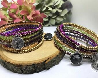 Bestie Bracelet-Memory Wire, Boho bracelet, Wrap bracelet