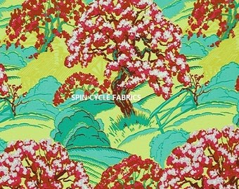 1 Yard Amy Butler CAMEO SPRING BEAUTY PWAB093-Scarlet Cherry Blossom Trees Westminster Quilting Sewing Fabric