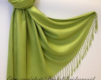 Wedding Season SALE - LIME PASHMINA - lime shawl - lime shawl - lime scarf - pashmina lime - shawl lime - scarf lime - lime fashion - favor