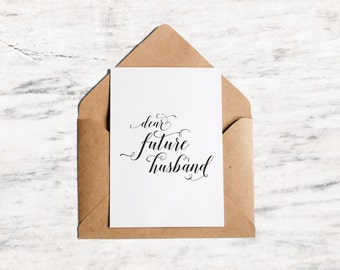 Dear Future Husband/Wifey Cards, Wedding Card Printable - INSTANT DOWNLOAD